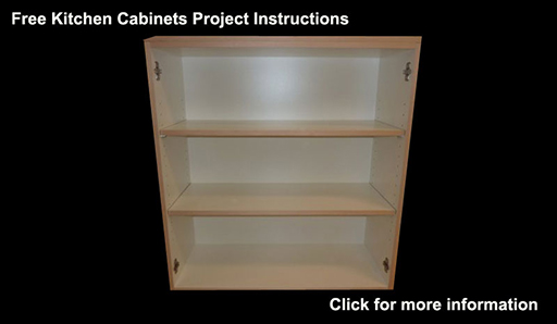 Kitchen cabinets built in this instructional article.