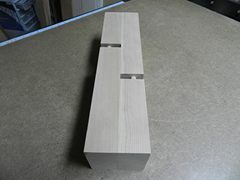 combination multiple dowel plus half lap woodworking joint dry fitted