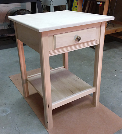 photo of nightstand project assembly build using Dowelmax